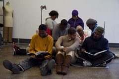 Members of FUREE rehearsing for FUREE On Pins And Needles. Photo by Michael Premo.