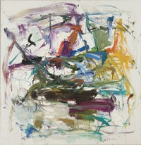 Joan Mitchell, Untitled, 1957, 461/4 × 44˝, oil on canvas. Copyright the Estate of Joan Mitchell and Courtesy Lennon, Weinberg, New York.