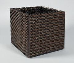 "Eva Hesse. ""Accession V,"" 1968. Galvanized steel and rubber, 10 × 10 × 10˝. Courtesy of Craig F. Starr Gallery, NY."