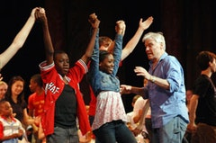 Jacques d'Amboise rehearses National Dance Institute students. Photo credit: Eduardo Patino.