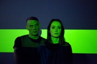 DJ Mendel and Hollis Witherspoon in 31 Down's newest piece: HERE AT HOME. Photo by Sue Kessler.