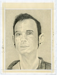Portrait of Ernesto Pujol. Pencil on paper by Phong Bui.