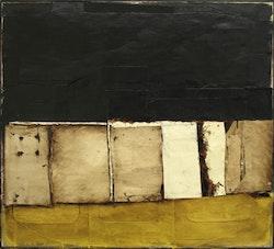 "Conrad Marca-Relli (1913-2000)""Cityscape"" A-M-11-96, 1996. Collage and mixed media on canvas. 42 × 45¾˝."