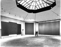Rothko Chapel (interior), original skylight grid, 1971.