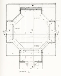 Barnstone and Aubry, plan (as built), 1970.