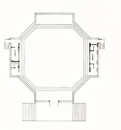 Philip Johnson, octagonal plan, 1964.