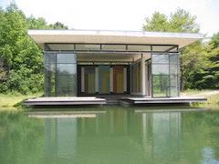 "David Novros, ""Boathouse,"" 2003. Middleburgh, NY."