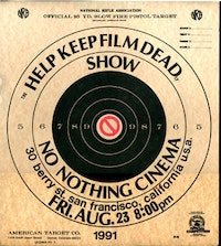 No Nothing Cinema poster, 1991; courtesy of Scott Stark