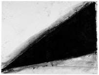 """""""Untitled,"""" 1972-73. Paintstick on paper. 377/8×50 inches. Whitney Museum of American Art, New York, Purchase with funds from Susan Morse Hilles."""