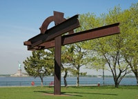 """""""Mahatma,"""" 1978–1979. Steel. 22'×30'×13'. Storm King Art Center. Gift of the Edward R. Broida Trust. Photograph by Jerry L. Thompson."""
