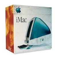 "Daniel Douke, ""iMac,"" 1999. Acrylic on canvas, 22˝×22˝×111/4˝. Collection of Rick and Dana Dirickson."