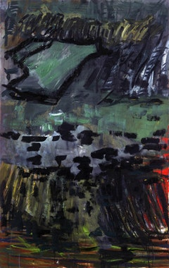 "Per Kirkeby, ""Untitled,"" 2009.  Oil and tempera on canvas, 63 × 39 1/3˝. (160 × 100 cm). Courtesy of the artist and Michael Werner Gallery, Berlin, Cologne, and New York."