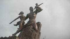 President Abdoulaye Wade's $28 million Monument of the African Renaissance, Dakar. Photos by Toni Cela