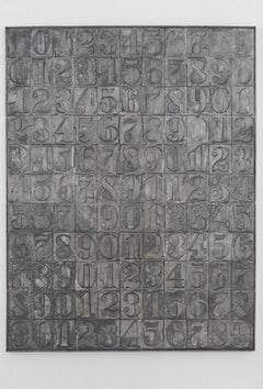 Jasper Johns, Numbers, 2007, Aluminum, 107 5/8 x 83 x 2 1/4
