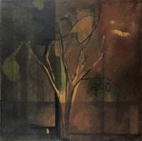 "Bill Rice, ""Tree,"" c. 1973. Oil on canvas, 50 × 50˝. Courtesy SHFAP."