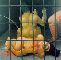 Fernando Botero, <i>Abu Ghraib 59</i> (2005). Oil on canvas. 52 3/8