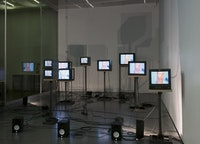 "Charles Atlas's ""Joints Array"" at the New Museum. Photo by Benoit Pailley."
