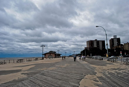 Coney Island after Hurricane Irene. Photo by Diana S, flickr.com.