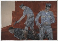Leon Golub (detail) Vietnam III, 1982, Acrylic on linen. Courtesy of the Artist Estate
