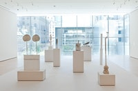 Installation view of <i>Cy Twombly: Sculptures at the Museum of Modern Art</i>, 2011. Photo: Jason Mandella.