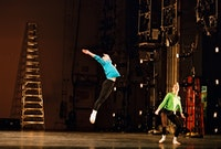 Daniel Roberts and Jeannie Steele of Merce Cunningham Dance Company in
