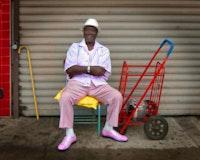 Man in pink shoes. Photo Credit: Kit Kaplan