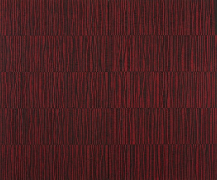 """The Red Path,"" 2011. Flashe on panel. 60 x 72"". Photography by: Adam Reich. Courtesy of: Morgan Lehman Gallery."