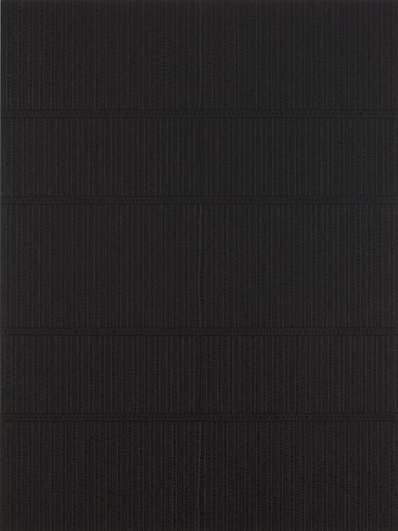"""Shadows Upon Shadows,"" 2011. Acrylic, black gesso on panel. 48 x 36"". Photography by: Adam Reich. Courtesy of: Morgan Lehman Gallery."