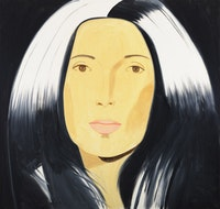 "Alex Katz, ""Anna,"" 2010. Oil on linen. 80 x 84"". Courtesy of Gavin Brown's Enterprise."
