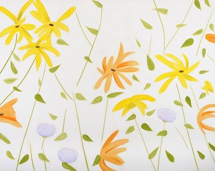 """Alex Katz, """"Flowers 2,"""" 2010. Oil on linen. 96 x 120"""". Courtesy of Gavin Brown's Enterprise."""