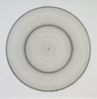 """Jill Baroff, """"Untitled (Tide Drawing),"""" 2006, ink and silk tissue mounted on rag, 31 x 31""""."""