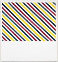 "Andrew Gbur, ""Untitled,"" 2010. Screen-printing ink on canvas. 90 x 84"". Courtesy Eleven Rivington, N Y."