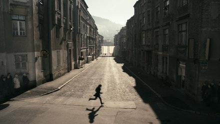 Anri Sala in collaboration with &#138;ejla Kameri&#263;, <i>1395 Days Without Red</i> (Film Stills), 2011. Color, sound, 44 minutes. Courtesy of the artist.