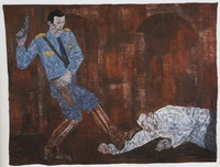 Leon Golub (detail) White Squad V, 1984 Acrylic on linen. Eli Broad Family Foundation