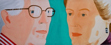 Alex Katz's double portrait of John and me, presented to the Metropolitan Museum of Art in 2010. Courtesy of Farrar, Straus and Giroux.