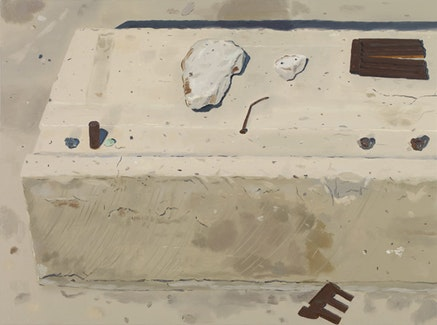 """""""Mine Site,"""" 2011. Oil on linen. 29 x 39 inches. Courtesy of Sikkema Jenkins & Co."""