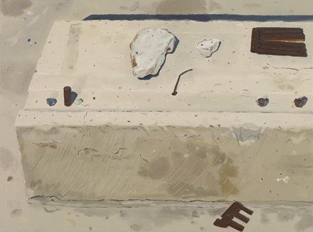 """Mine Site,"" 2011. Oil on linen. 29 x 39 inches. Courtesy of Sikkema Jenkins & Co."