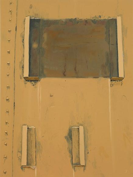 """""""Sign Holders,"""" 2010. Oil on linen. 40 x 30˝. Courtesy of Sikkema Jenkins & Co."""