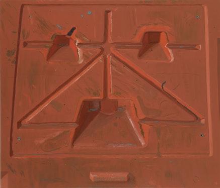 """""""Barrier,"""" 2011. Oil on linen, 36 x 42˝. Courtesy of Sikkema Jenkins & Co."""