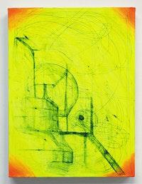 "Joanne Greenbaum, ""Untitled,"" 2011. Oil, acrylic, mixed media on linen. 16 x 12"". Courtesy the artist and D'Amelio Terras, New York."