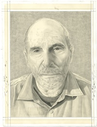 Portrait of Bill Zimmerman. Pencil on paper by Phong Bui.