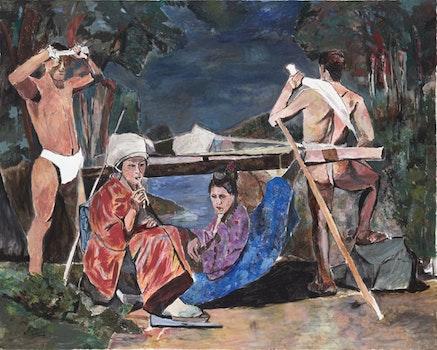"""LeBelle Cascade,"" 2009. Acrylic on canvas. Gagosian Gallery, NYC."