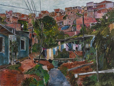 """Favela Villa Broncos,"" 2009–2010. Acrylic on canvas. Credit: Statens Museum for Kunst, Copenhagen."