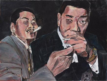 """Big Brother,"" 2009. Acrylic on canvas. Credit: Gagosian Gallery, NYC."