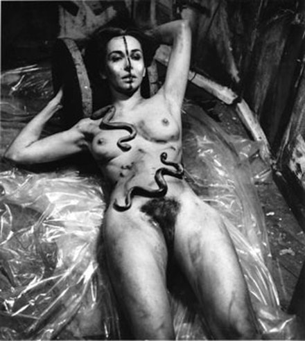 "Carolee Schneeman, ""Eye Body: 36 Transformative Actions"" 1963. Action for camera. Photo credit: Erro."