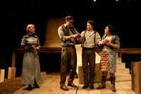 Kelly McAndrew, Tug Coker, Barnaby Carpenter, and Vanessa Aspillaga in <em>The Cataract</em>. Photo courtesy of Women's Project and Productions.