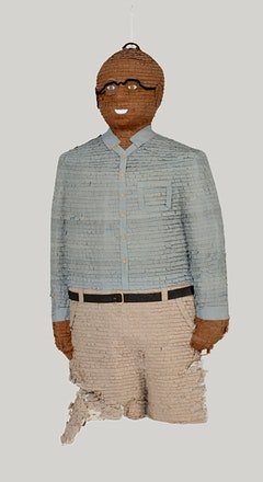 <p>Dave McKenzie, <em>Self-Portrait Piñata</em>, 2002. Papier-mâché and crepe paper. Dimensions variable. (c).Photo: Marc Bernier. Courtesy the artist and The Studio Museum in Harlem.</p>