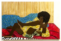 "MICKALENE THOMAS, ""Rumble� from the Brawling Spitfire Series, Courtesy of Studio Museum in Harlem"