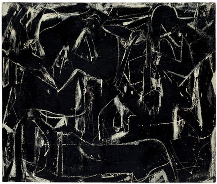 "Willem de Kooning, ""Dark Pond,"" 1948. Enamel on composition board. 46 3/4 x 55 3/4"". Frederick R. Weisman Art Foundation, Los Angeles. © The Willem de Kooning Foundation / Artists Rights Society (ARS), New York."