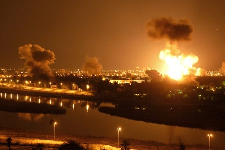 Night shelling on Baghdad. Photo by Ammar Abd Rabbo, flickr.com.